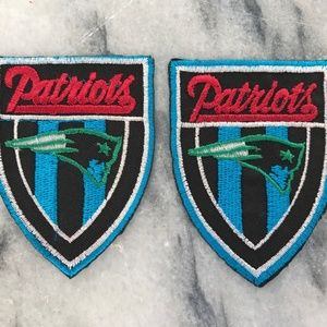 Accessories - Patriots Embroidered Patches Iron On Badge Lot of2